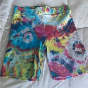 NWOT tie dye biker shorts